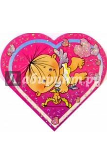 9Т-020/В праздник.../мини-открытка сердечко двойна