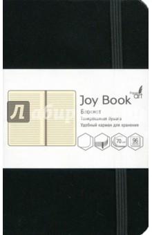 Блокнот Joy Book (96 листов, А6-, искусственная кожа, тв. переплет, угольно-черный) (БДБЛ6962233)Блокноты средние Линейка<br>Блокнот.<br>96 листов<br>Формат: А6-.<br>Блок: тонированный офсет, плотность 70г/м2.<br>Линовка: линия.<br>Крепление: книжное (прошивка).<br>Твердый переплет из искусственной кожи.<br>Скругленные уголки, ляссе, удобный карман для хранения, закрывается на резинку.<br>Сделано в Китае.<br>