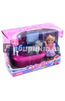Кукла с собачкой в ванне и аксессуарами (MX0111301)Куклы<br>Изготовлено из полимерных материалов с элементами текстильных материалов. Не рекомендуется детям до 3-х лет.<br>Сделано в Китае.<br>