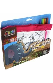 Набор. Раскрась свою сумку Джунгли (AL2047)Роспись по ткани<br>Стильная сумка, раскрашенная в яркие цвета, понравится любому ребенку. Стоит только проявить фантазию и осуществить задуманное с помощью специальных маркеров, и перед Вами стильный и неповторимый аксессуар. <br>В наборе целых 2 сумки разных размеров. Большая (42х33 см) и маленькая (26х22 см). На лицевой стороне сумок есть четко нанесенный контур рисунков на тему Джунгли. В этой серии есть также пенал и рюкзачок. Все это можно объединить в яркий и оригинальный комплект.<br>В наборе: 2 сумки, 6 маркеров по ткани.<br>Для детей от 6-ти лет.<br>Не предназначено для детей младше 3-х лет! Набор содержит мелкие детали, которые представляют опасность при попадании в дыхательные пути ребенка.<br>Сделано в Китае.<br>