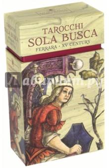 Таро Сола-Буска (78 карт)Гадания. Карты Таро<br>Колода карт Sola Busca - прекрасный образец искусства итальянского Возрождения, созданный в Ферраре, Италия, в конце XV века. Это Таро - одна из редчайших старинных колод, сохранившихся полностью.<br>78 карт, 77х144 мм.<br>