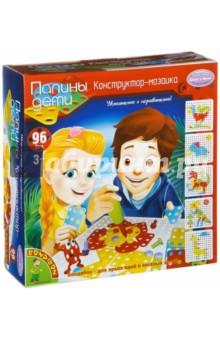 Конструктор-мозаика (96 деталей) (ВВ2049)Конструкторы из пластмассы и мягкого пластика<br>Конструкторы являются одними из самых популярных развивающих детских игрушек. С помощью этого набора ребенку предстоит собирать самые разнообразные модели на специальной игровой основе. Благодаря деталям различной формы, с помощью винтиков и отвертки можно собрать изображение сорна, динозавра, жирафа и многие другие!<br>Удобное игровое поле с крышкой обеспечит хранение деталей. Конструктор-мозаика от Бондибон развивает мелкую моторику ребенка, логику, воображение, смекалку. В набор входят детали различной формы и разного цвета, винтики, отвертка, игровое поле с отсеком для хранения деталей, инструкция.<br>В наборе 96 деталей.<br>Для детей от 3-х лет.<br>Не рекомендуется детям до 3-х лет. Содержит мелкие детали.<br>Сделано в Китае.<br>