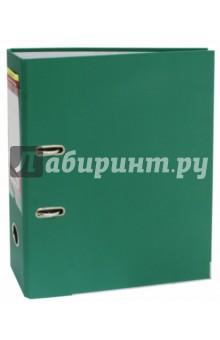 Папка-регистратор (A4, 75 мм, зеленый) (355021-03)Папки-регистраторы<br>Папка-регистратор для хранения документов.<br>С арочным механизмом.<br>Формат A4<br>Ширина: 75 мм.<br>Покрытие ПВХ/бумага.<br>Цвет покрытия зеленый.<br>Окантовка металлическая окантовка.<br>Сменный карман на корешке.<br>Сделано в России.<br>