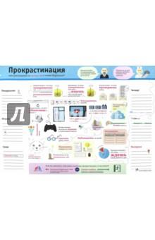 Планинг Прокрастинация (PL02)Планинги<br>Планинг настольный.<br>Размер: 42х30 см.<br>Количество листов: 30.<br>Бумага: офсет.<br>Крепление: клеевое.<br>Сделано в России.<br>