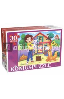 Puzzle-30 Сказка №45 (ПК30-5774)Пазлы (15-50 элементов)<br>Мы производим пазлы для детей на протяжении многих лет. Наши пазлы соответствуют важным критериям - высокое качество материалов, крепкая сцепка, яркая полиграфия и идеальная форма элементов, а развивающую роль пазлов трудно переоценить - это занятие улучшает внимание, память, мелкую моторику и цветовое восприятие!<br>Количество элементов: 30.<br>Размер собранной картинки: 300х215 мм.<br>Материалы: картон.<br>Упаковка: картонная коробка.<br>Для детей от 3-х лет. Содержит мелкие детали.<br>Сделано в России.<br>