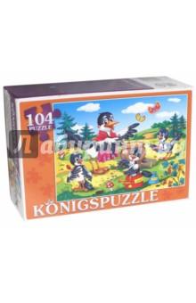 Puzzle-104 Сорока-белобока (ПК104-5819)Пазлы (100-170 элементов)<br>Мы производим пазлы для детей на протяжении многих лет. Наши пазлы соответствуют важным критериям - высокое качество материалов, крепкая сцепка, яркая полиграфия и идеальная форма элементов, а развивающую роль пазлов трудно переоценить - это занятие улучшает внимание, память, мелкую моторику и цветовое восприятие!<br>Количество элементов: 104.<br>Размер собранной картинки: 340х240 мм.<br>Материалы: картон.<br>Упаковка: картонная коробка.<br>Для детей от 3-х лет. Содержит мелкие детали.<br>Сделано в России.<br>