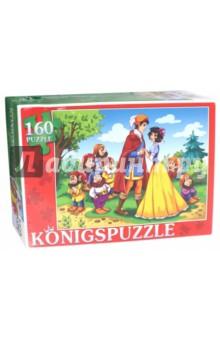 Puzzle-160 Белоснежка (ПК160-5826)Пазлы (100-170 элементов)<br>Мы производим пазлы для детей на протяжении многих лет. Наши пазлы соответствуют важным критериям - высокое качество материалов, крепкая сцепка, яркая полиграфия и идеальная форма элементов, а развивающую роль пазлов трудно переоценить - это занятие улучшает внимание, память, мелкую моторику и цветовое восприятие!<br>Количество элементов: 160.<br>Размер собранной картинки: 340х240 мм.<br>Материалы: картон.<br>Упаковка: картонная коробка.<br>Для детей от 3-х лет. Содержит мелкие детали.<br>Сделано в России.<br>