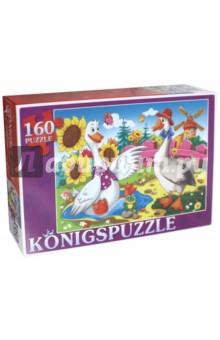 Puzzle-160 Два веселых гуся (ПК160-5829)Пазлы (100-170 элементов)<br>Мы производим пазлы для детей на протяжении многих лет. Наши пазлы соответствуют важным критериям - высокое качество материалов, крепкая сцепка, яркая полиграфия и идеальная форма элементов, а развивающую роль пазлов трудно переоценить - это занятие улучшает внимание, память, мелкую моторику и цветовое восприятие!<br>Количество элементов: 160.<br>Размер собранной картинки: 340х240 мм.<br>Материалы: картон.<br>Упаковка: картонная коробка.<br>Для детей от 3-х лет. Содержит мелкие детали.<br>Сделано в России.<br>