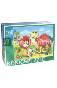Puzzle-160 Сказка №53 (ПК160-5842)Пазлы (100-170 элементов)<br>Мы производим пазлы для детей на протяжении многих лет. Наши пазлы соответствуют важным критериям - высокое качество материалов, крепкая сцепка, яркая полиграфия и идеальная форма элементов, а развивающую роль пазлов трудно переоценить - это занятие улучшает внимание, память, мелкую моторику и цветовое восприятие!<br>Количество элементов: 160.<br>Размер собранной картинки: 340х240 мм.<br>Материалы: картон.<br>Упаковка: картонная коробка.<br>Для детей от 3-х лет. Содержит мелкие детали.<br>Сделано в России.<br>