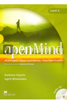 OpenMind. Level 1. Workbook (+CD)Английский язык<br>Level: Beginner / A1 <br>The Student s Book Pack consists of a Student s Book and access to mindOnline, the companion Web site for openMind. This is accessed through a unique access code found at the back of the Student s Book. <br>The Student s Book consists of 12 units with six pages of language sections and two pages of lifeSkills. Each unit includes an Opener, Language Wrap-Up, and Communicative Wrap-Up. <br>mindOnline provides students with numerous additional resources including interactive word lists, video pieces and language practice.<br>