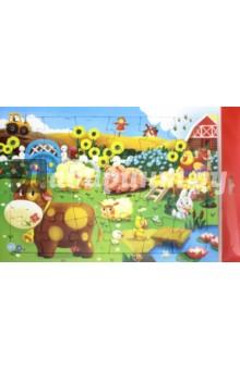 Пазл Животные на ферме, 24 деталиПазлы (15-50 элементов)<br>Пазл предназначен для детей от 3-х лет. Играя, ребенок развивает воображение, пространственное мышление, внимание, память и способность анализировать!<br>В комплект добавлена картинка, по образцу которой малыш будет собирать пазл.<br>Размер собранной картинки: 21х29,5 см.<br>