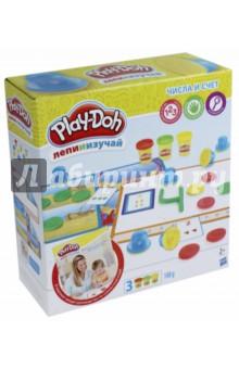 Набор Цифры и числа (B3406)Наборы для лепки с игровыми элементами<br>Серия Play-Doh Лепи и изучай включает легкие для использования инструменты и игры с инструкцией, которые содействуют практическому и творческому обучению!<br>Развиваем фундаментальные навыки посредством творческой игры!<br>В комплекте: 8 штампов, 2 двусторонних коврика, 10 карточек, руководство по совместной игре, 3 банки пластилина Play-Doh.<br>Для детей от 2-х лет.<br>Сделано в Китае.<br>