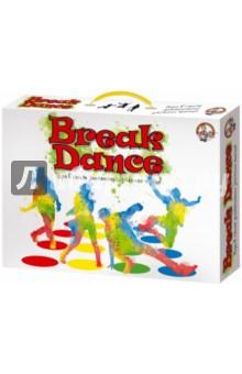 Игра Break Dance (01919)Игры для активного отдыха<br>Брейк Данс - это весела активная игра, которая проста в освоении и использовании. <br>Брейк Данс представляет собой большое игровое поле из полиэтиленовой пленки размером 1,2х1,8 метра. Поле размечено четырьмя рядами цветных кругов. В каждом ряду их по шесть штук - желтого, красного, зеленого и синего цветов. К игре прилагается рулетка, которая представляет собой круг из прочного картона, поделенный на 4 секции: левая и правая рука, левая и правая нога. В каждой секции по 4 круга - синего, зеленого, желтого и красного цвета. На одном поле может играть от 2-х до 4-х игроков, для большего количества участников потребуется несколько полей, которые необходимо сложить вместе.<br>Правила игры:<br>Для игры в Брейк Данс поле надо расстелить на полу, снять обувь и выбрать ведущего, который должен крутить рулетку и называть комбинации игрокам. Например, если стрелка показывает на зеленую отметку с надписью правая нога, то всем игрокам объявляется требование поставить правую ногу на зеленый кружок. Также ведущий является судьей, который должен следить за всеми действиями игроков и указывать на нарушения. Так, на игровое поле нельзя становиться локтями и коленями. В одно и то же время только один игрок может касаться одного круга. Кроме этого, нельзя поднимать руки или ноги без особого указания на это ведущего. Например, по указанию ведущего, один из игроков может поднять ногу, чтобы другой игрок смог протянуть руку к кругу. Если ваша конечность уже находится на названном цвете круга, то переместите ее на другой круг этого же цвета. Также, возможно, потребуется решение спора, кто первый поставил руку или ногу на тот или иной кружок. Когда все шесть кругов одного цвета будут заняты, следует крутить рулетку до тех пор, пока не выпадет свободный цвет. Победителем же становится тот последний герой, который смог устоять на игровом поле в столь сложном закрученном положении, не упал и не коснулся коврика коленом или локтем.<br>Попр