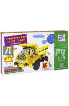 Конструктор Click-Clack, Самосвал, 619 элементов (67790)Конструкторы из пластмассы и мягкого пластика<br>Конструкторский набор.<br>Изготовлено из пластмассы и бумаги.<br>Комплектность: 619 деталей.<br>Для детей от 3 лет.<br>Сделано в Китае.<br>