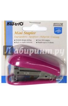 Степлер Mini 24/6 26/6  50 скоб (5512PINK)Степлеры<br>Министеплер.<br>До 20 страниц.<br>Вместимость 30 скоб.<br>Сделано в Тайване.<br>