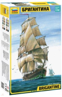 Бригантина (М:1/100) (9011)Пластиковые модели: Морфлот<br>Слово бригантина происходит от brigand - пират, разбойник, так называли легкие пиратские суда. Позднее тип судна сменился, а название осталось прежним. В VII-VIII веках бригантина несла прямые паруса на обеих мачтах, и равное хождение имели термины бригантина и бриг (как сокращение от первого). В VIII веке бригантины применялись в военных флотах как посыльные и разведывательные корабли.<br>Набор деталей для сборки одной модели корабля.<br>Краски и клей продаются отдельно от набора.<br>Масштаб: 1/100.<br>Размер: 45 см.<br>Кол-во деталей: 305<br>Не давать детям до 3-х лет из-за наличия мелких деталей.<br>Срок годности не ограничен.<br>Сделано в России.<br>