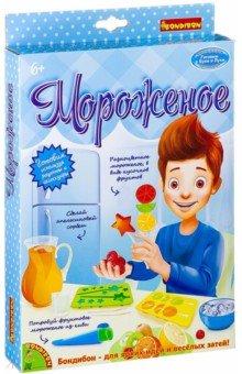 Набор Французские опыты. Мороженое (5 экспериментов) (ВВ2598)Наборы для опытов<br>Проведи кулинарные эксперименты, познакомься с вкуснейшими рецептами, освой азы декорирования готовых вкусняшек.<br>В наборе: форма для фруктового сорбета, форма для мороженого в виде звездочки, форма для мороженого в виде кусочков фруктов, палочки для мороженого, инструкция. <br>Для детей старше 6-ти лет.<br>Не рекомендуется детям до 3-х лет. Содержит мелкие детали.<br>Сделано в Китае.<br>