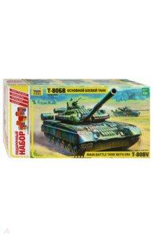 Основной боевой танк Т-80БВБронетехника и военные автомобили (1:35)<br>В 1985 г. на вооружение поступила новая модификация танка Т-80, которая получила обозначение Т-80БВ. Этот вариант имеет усиленное бронирование - навесную динамическую защиту на корпусе и башне. На танке устанавливается усовершенствованная 125-мм пушка - пусковая установка 2А46М-1 и спаренный с ней 7,62-мм пулемет ПКТ. Кроме того, на танке установили более мощный двигатель. Ходовые качества Т-80БВ, несмотря на увеличившийся вес, остались на прежнем уровне. Новый комплекс управляемого оружия позволил увеличить дальность поражения бронированных целей до 2000 м.<br>