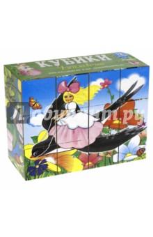 Кубики-картинки №8 Дюймовочка (12 штук) (00808)Кубики с картинками<br>Кубики с картинками - простая, но многофункциональная игрушка, которую специалисты рекомендуют как обязательную для развития малышей. С их помощью дети учатся узнавать целый образ в деталях, видеть и находить недостающие части картинки.<br>Наши кубики содержат изображения из одной сказки, поэтому дети могут в игровой форме освоить важный навык: пересказ.<br>Для более эффективного использования кубиков рекомендуется предлагать малышу разные тематические наборы.<br>Развивает пространственное мышление, наблюдательность, мелкую моторику и речь, навыки конструирования.<br>В наборе 12 кубиков.<br>Материал: полипропилен <br>Упаковка: термоусадочная плёнка<br>Для детей от 1 года.<br>Сделано в России.<br>