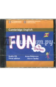 Fun for Starters, Movers and Flyers 3Ed (CD)Аудиокурсы. Английский язык<br>Third edition of the full-colour Cambridge English: Young Learners (YLE) preparation activities for all three levels of the test (Starters, Movers, Flyers). Fun for Starters Student s Book provides full-colour preparation for Cambridge English: Starters. Brand new content with classroom, online and mobile technology brings this popular series right up to date. Fun activities balanced with exam-style questions practise all the areas of the syllabus in a communicative way and support young learners in the areas they find most difficult. Listening material to accompany the Student s Book is available online for download or as a separate Audio CD. Grammar and vocabulary activities get students practising in their own time in the online LMS via an access code in the book.<br>