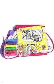 Barbie. Сумка для раскрашивания Barbie dreams (03296)Роспись по ткани<br>Сумочка для раскрашивания Barbie изготовлена из шелковистой ткани, на которую нанесен контурный рисунок для раскрашивания. С помощью специальных несмываемых маркеров для ткани ребенок может создать собственный дизайн. Получается очень функциональная сумочка, в которую можно положить всё необходимое маленькой моднице: аксессуары для волос, солнечные очки, телефон, блокнотики и тетрадки.<br>