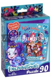 Enchantimals. Пазл-90+магнитик Fur ever Besties (03552)Пазлы (54-90 элементов)<br>Волшебные подружки и их любимые друзья-зверюшки приглашают вас окунуться в фантастический мир. В новой коллекции пазлов на 90 элементов подружки приготовили для вас веселье и приключения!<br>