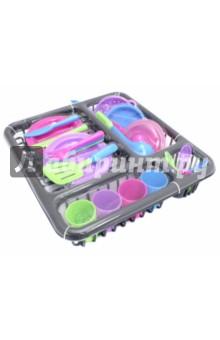 Набор посуды для кухни на поддоне (РТ-00667)Наборы игрушечной посуды<br>Игрушки - предметы игрового обихода: набор посудки.<br>Материал: пластмасса.<br>Для детей от 3 лет.<br>Сделано в Китае.<br>