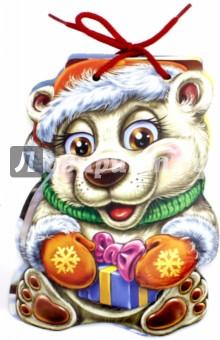 С Новым годом. Белый медвежонокСказки и истории для малышей<br>Книжки этой серии крепкие и прочные. Плотные странички удобно листать даже самым маленьким ручкам. Книжки серии С Новым годом! (на шнурке) выглядят как настоящие новогодние персонажи: Дед Мороз, Снегурочка и другие... Они расскажут Вашему малышу стишки про свои приключения и станут для него добрыми друзьями.<br>