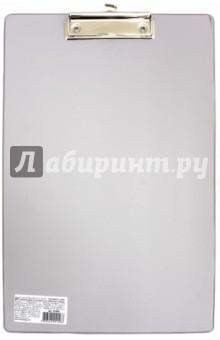 Доска-планшет Comfort с верхним прижимом, серая (222661)Папки с зажимами, планшеты<br>Доска-планшет BRAUBERG Comfort с верхним прижимом А4, 23*35см, картон/ПВХ, РОССИЯ, СЕРАЯ.<br>