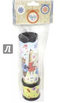 Калейдоскоп (75712)Оптические игрушки<br>Калейдоскоп из плотного картона и полистирола с внутренними элементами из ЭВА, ПЭТ.<br>Размер: 20х5,6см.<br>Игрушка для детей от 3 лет.<br>Сделано в Китае.<br>