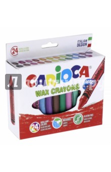 Набор восковых мелков Wax Crayons Maxi (24 цвета) (42390)Мелки восковые<br>Набор восковых мелков.<br>Мелки легко стираются и затачиваются, не пачкают руки.<br>В наборе 24 цвета.<br>Сделано в Китае.<br>