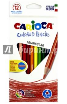 Набор деревянных карандашей (12 цветов) (42515)Цветные карандаши 12 цветов (9—14)<br>Наши карандаши обеспечивают супергладкое письмо, обладают яркими цветами и прекрасной отделкой. <br>Трехгранная форма.<br>Диаметр грифеля: 3,5 мм.<br>Не подходит для детей в возрасте до 3 лет.<br>Сделано в Китае.<br>