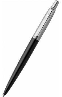 Ручка шариковая Jotter Core K63 Bond Street Black, синий, 0,8 мм. (1953184)Ручки шариковые автоматические синие<br>Шариковая ручка Parker Jotter имеет корпус из качественного нержавеющей стали черного цвета. <br>Детали отделки - стальное покрытие. <br>Оснащена кнопочным механизмом. <br>Комплектуется индивидуальным футляром и стержнем с пастой синего цвета. <br>Толщина линии письма - 0,8 мм.<br>