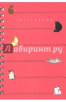Скетчбук Чудесные котики (100 листов, А5, евроспираль) (ТС51004595)Блокноты большие нелинованные<br>Скетчбук.<br>Количество листов: 100<br>Формат: А5<br>Крепление: евроспираль<br>Сделано в России.<br>