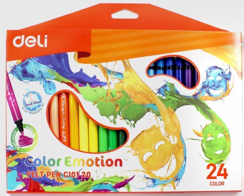Фломастеры 24 цвета Deli арт. 10120С