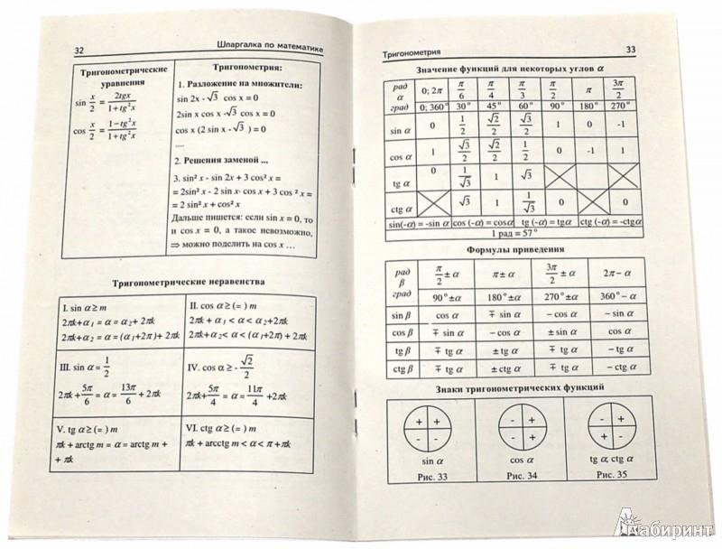 Иллюстрация 1 из 5 для Шпаргалка по математике - Светлана Хорошавина   Лабиринт - книги. Источник: Лабиринт
