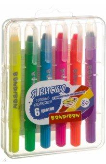 Набор гелевых карандашей для рисования, 6 цветов (ВВ 3462)
