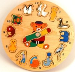 """Иллюстрация 1 из 2 для Развивающая деревянная игра """"Часы-звери"""" (D29А)   Лабиринт - игрушки. Источник: Лабиринт"""