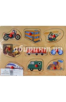 Развивающая деревянная игрушка Транспорт (D91)Сборные 2D модели и картинки из дерева<br>Развивающие рамки - автомобили.<br>Материал: дерево с элементами из пластмассы.<br>Игрушка предназначена для детей старше 3-х лет.<br>Сделана в Китае.<br>