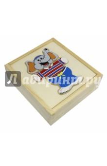 Слон в коробкеСборные 2D модели и картинки из дерева<br>Развивающая деревянная игрушка.<br>Игрушка предназначена для детей от 3 лет.<br>Сделано в Китае<br>