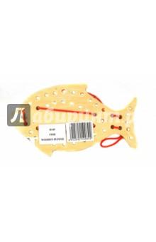 Развивающая деревянная игрушка Рыба (D145)Шнуровки из дерева<br>Сборная модель деревянная.<br>Цель игры: развитие мелкой моторики, координации и точности движений.<br>Для детей от 3 лет.<br>Сделано в Китае.<br>