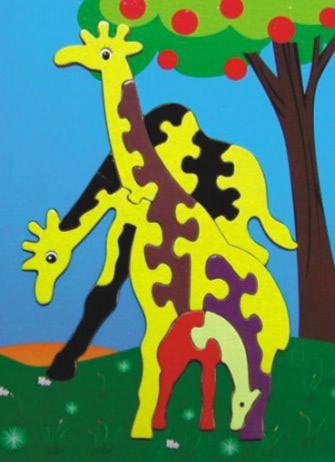 """Иллюстрация 1 из 7 для Развивающая деревянная игрушка """"Жирафы"""" (DE06)   Лабиринт - игрушки. Источник: Лабиринт"""