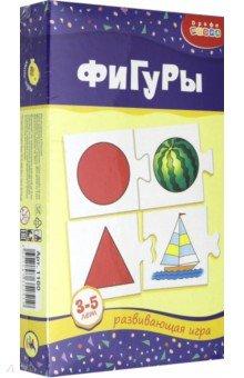 Мини-игры Фигуры 3-5 лет (1160)Обучающие игры-пазлы<br>Игра знакомит ребенка с основными геометрическими фигурами, учит определять форму предметов, развивает воображение, математические способности и мелкую моторику рук.<br>Игра для детей 3-5 лет.<br>Количество игроков: 1-2 человека. <br>Материалы: бумага, картон<br>Упаковка: картонная коробка.<br>Сделано в России.<br>