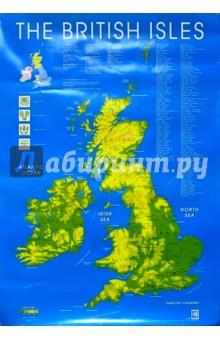 The British isles. Карта (плакат, А1)