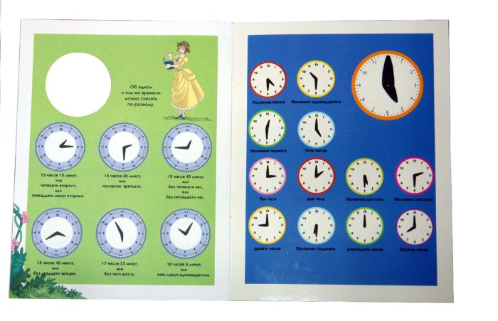 Иллюстрация 1 из 11 для Учимся определять время. Книжка с циферблатом | Лабиринт - книги. Источник: Лабиринт