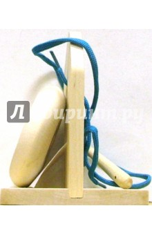Пуговица-шнуровка на подставке (4 дырки)