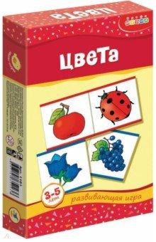 Мини-игры Цвета 3-5 лет (1161)Обучающие игры-пазлы<br>Игра знакомит детей с цветами радуги, способствует развитию внимания, мышления, навыков классификации. Ребенок научится ориентироваться в пространстве, называть группы предметов обобщающим словом, познакомится с цифрами от 1 до 7 и счетом в пределах 7.<br>Игра для детей 3-5 лет.<br>Количество игроков: 1-2 человека. <br>Материалы: бумага, картон<br>Упаковка: картонная коробка.<br>Сделано в России.<br>