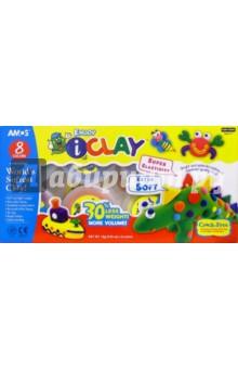 """Глина для моделирования 8 цветов """"I Clay"""" /21635"""