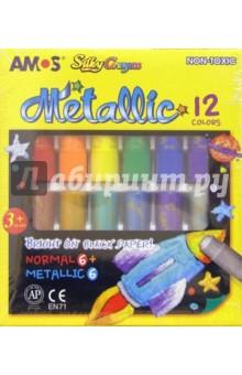 """Краски """"3 в 1"""" 12 цветов (металлик) /19835 (картонная упаковка)"""