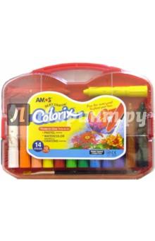 """Краски """"3 в 1"""" 12 цветов 14 штук/19837 (в платиковом подарочном чемодане)"""